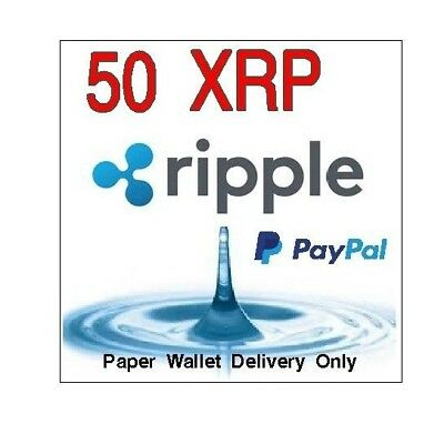 50 Ripple (XRP) Virtual Currency From USA Seller **PAPER WALLET SHIPPING ONLY**