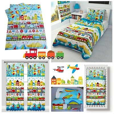 Babies-Island A/ 2 Piece Bedding Set Pillowcase+Duvet Cover for Baby Toddler to Fit Cot//Cot Bed Pirates Island Size 90x120 cm