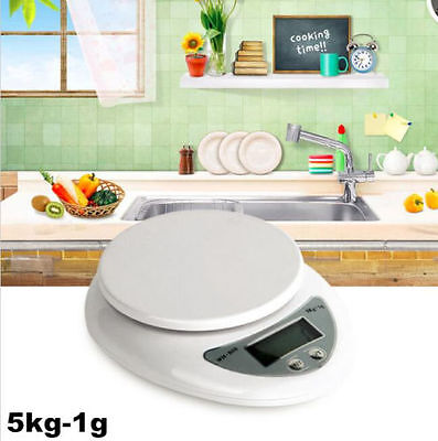 5kg 5000g X 1g Digital LCD Kitchen Scale Diet Food Compact  Weight Balance SUST7
