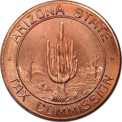 5 Mil Arizona Tax Token from the 1930's Uncirculated (inv# 12307) Free Shipping