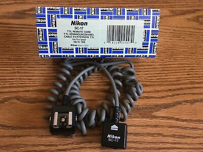 Nikon SC-17 TTL Remote Sync Cable Cord | for Speedlights