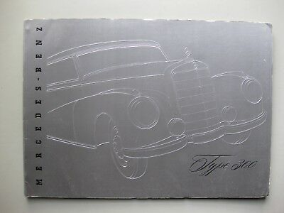 Mercedes 300 prestige brochure Prospekt English language 1953 24 pages