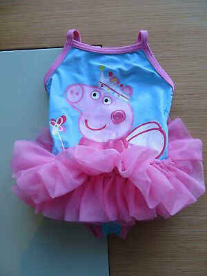 Baby Girls Peppa Pig Tutu Swimsuit Next 6-9 Months