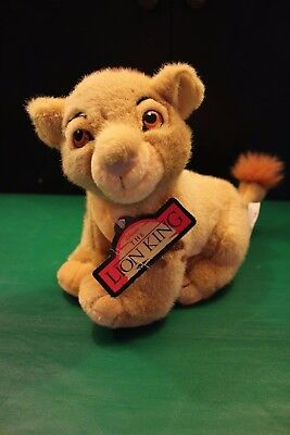 Disney The Lion King Young Simba Plush 1998 With Tag