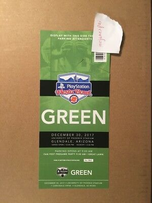 2017 Fiesta Bowl - One 1 Green Lot Parking - No Game Tickets