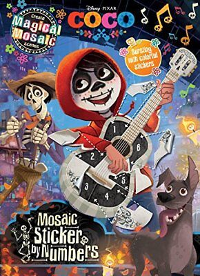 Disney Coco Mosaic Sticker Book With over 1000 colorful stickers !!!