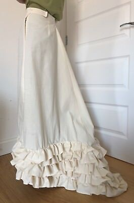 Handmade Edwardian style (early 1900s) Petticoat underskirt fish tail trains,new