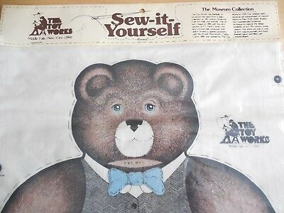 Vtg 1978 The Toy Works Sew-It-Yourself Antique Teddy Bear, Museum Collection NIP