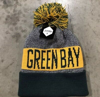 370c57d8782 NWT - Green Bay Packers Team Color Pom pompom Beanie winter hat cap FREE S