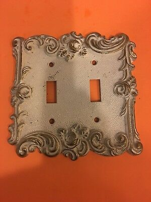Vintage 1967 American tack & hardware Co.Double light switch wall plate.