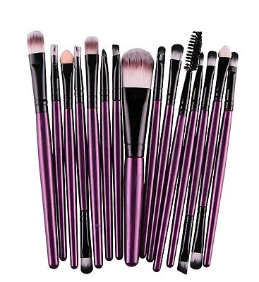 15pcs Makeup Brushes Set Powder Foundation Eyeshadow Eyeliner Lip Brush Tool