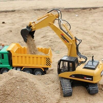 Remote Control Excavator RC Tractor Construction 15 Channel Vehicle Truck Toy
