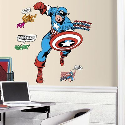 Captain America Comic Giant Wall Decal - Decor Wall Decor Nursery Baby  </font><