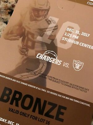 Los Angeles Chargers vs. Oakland Raiders Parking Pass 12/31/17