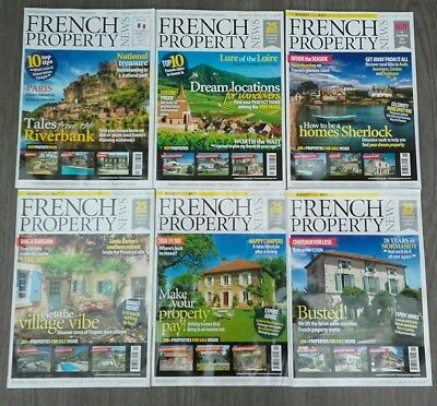 'French Property News' magazine 6 Copies 2017