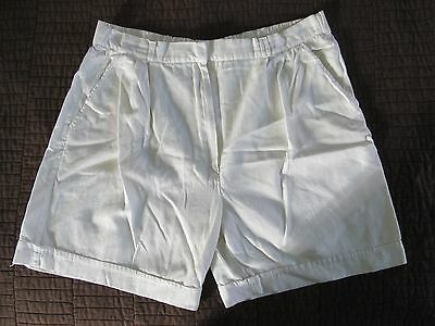 True Vintage 80's Basso White Shorts With Elastic 100% Cotton Women's Size Large