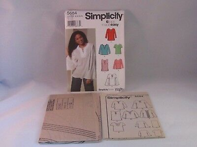 Simplicity Misses BOHO Peasant Blouse Tunic Top Sewing Pattern 5684 UC 8-14
