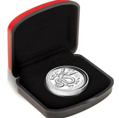2013 Australia Year Of The Snake 1 oz. 999 Silver High Relief Coin