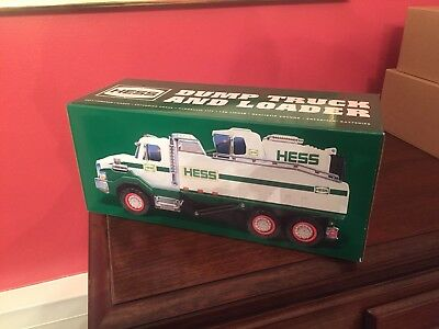 2017 Hess Toy Truck Dump Truck and Loader Brand New In Box