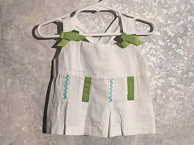 P1 * Hartstrings * cute white green top * Sz 2T * bows * side zip * excellent *