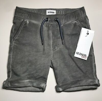 Hudson Baby Boy grey jogger short pull on with back pockets size 24 months NWT