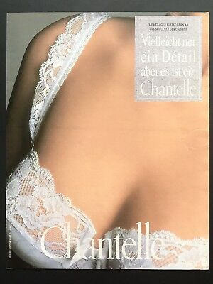 1994 Vintage Print Ad CHANTELLE Woman's Underwear Fashion Image Photo Lace
