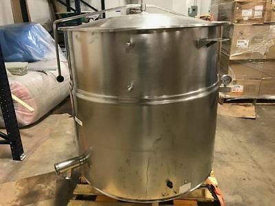 CLEVELAND #KEL80, 80 GAL. STATIONARY STEAM KETTLE, USE as UTILITY TANK #571, 572