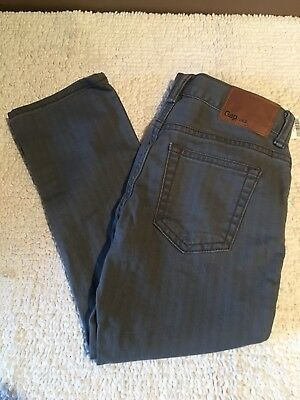 NWT GAP Boys Straight Fit Flat Front Chinos Pants 5 Regular Gray Light Stripe
