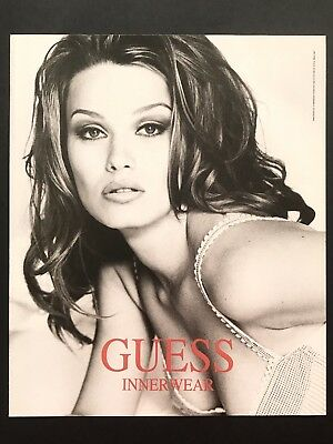 1994 Vintage Print Ad GUESS INNERWEAR Model Image Underwear Fashion Photo
