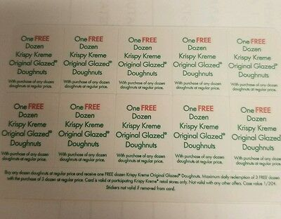 KRISPY KREME Cards *Buy 1 Dozen Assorted & Get 1 Dozen glazed 10 OFFERS PER CARD