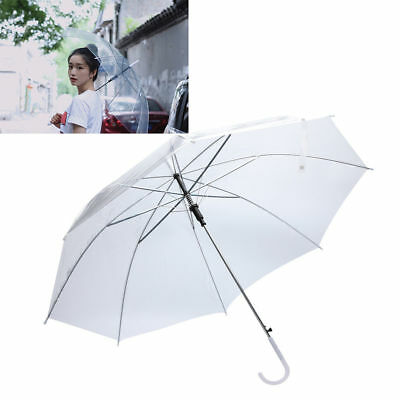 Transparent Clear Dome See Through Umbrella With White Handle New Arrival