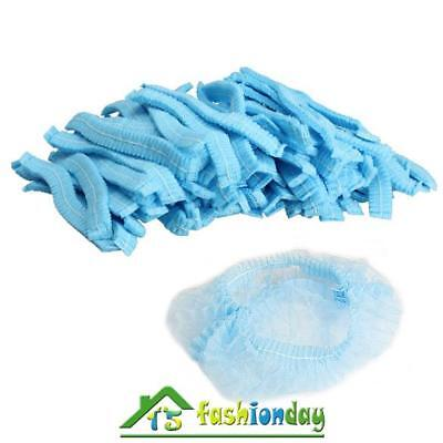 100pcs Non Woven Disposable Dust Cap Hair Shower Bouffant Pleated Anti Dust Set