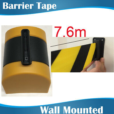 7.6m YELLOW Retractable Barrier Tape/crow control barriers/wall mount barrier