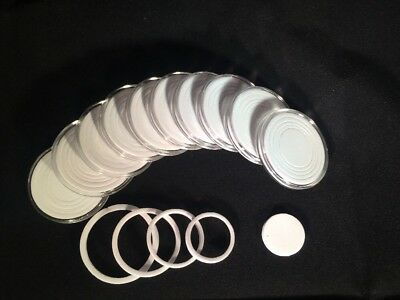 2 40mm Coin Capsules Inserts  35mm 30mm 26mm 22mm Fits All Coins