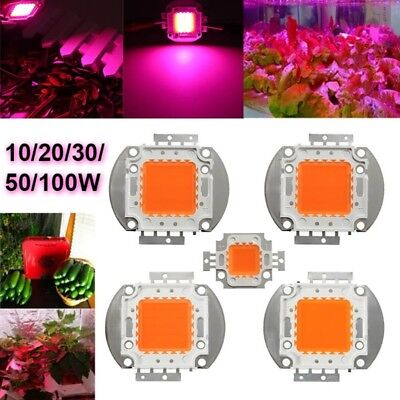 10/20/30/50/100W Full Spectrum LED COB Chip Grow Lights Plant Growth Lamp Light