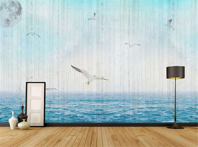 Plain Coherent Sea 3D Full Wall Mural Photo Wallpaper Printing Home Kids Decor