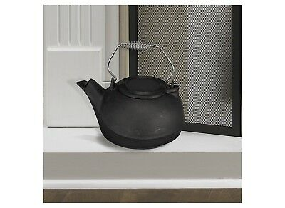 Cast Iron Kettle Steamer 3 Qt Vintage Pot Fireplace Stove Wood Steam Water Dry