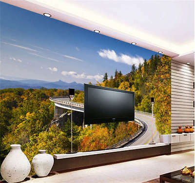 Long Utmost Road 3D Full Wall Mural Photo Wallpaper Printing Home Kids Decor
