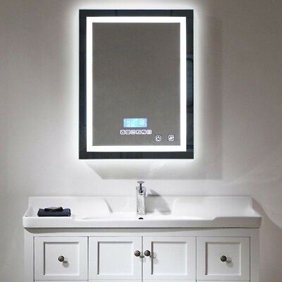 Salle De Bain Miroir Led Wall Mirror Dimmable Bluetooth Intelligent