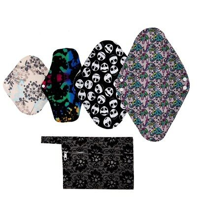 S M L XL Cloth Menstrual Pad Mama Cloth Sanitary BAMBOO Bag Reusable Washable