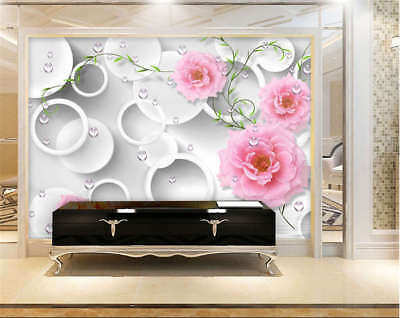 Concise Sober Flower 3D Full Wall Mural Photo Wallpaper Printing Home Kids Decor