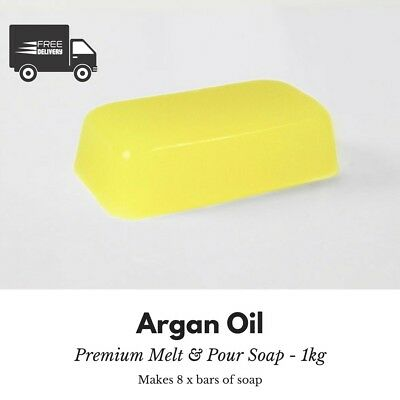 1kg - Argan Melt and Pour Soap Base - Free Shipping