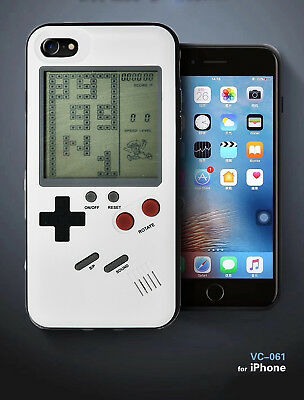 iPhone 7/8 Game Case White - Games Console with Various Classics (Tetris, etc.)