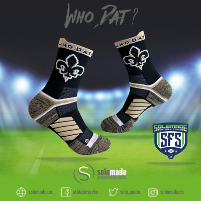 solemade socks, New Orleans City Style, NFL, Adult, MID, Saints
