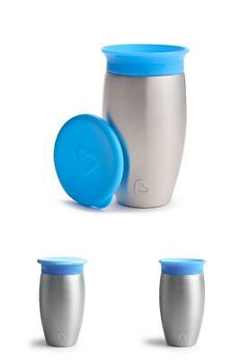 Munchkin Miracle Stainless Steel 360 Sippy Cup,Blue,10 Ounce Weight 9.3 ounces