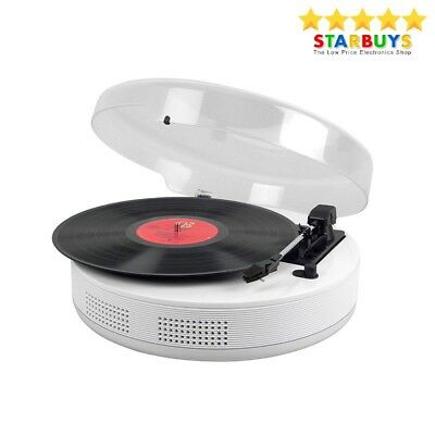 Steepletone 3 Speed Vinyl Record Player Turntable Built-in Speakers & Bluetooth