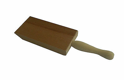Proffesional Gnocchi Wood Paddle Slanted Ridge Board Pasta Maker - Italian Made