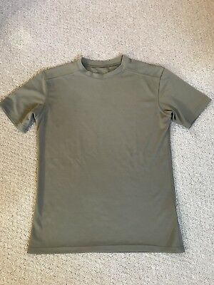 British Army Self wicking T shirt coolmax Walking Running Cadets Uniform Olive M