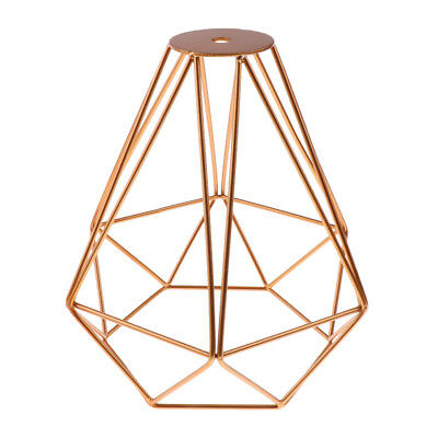 American Industrial Style Diamond Ceiling Light Lamp Bulb Cage Golden+Black