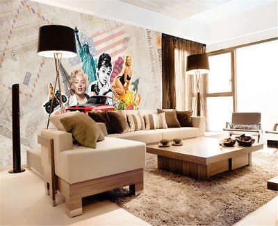 Concise Mickey Mouse 3D Full Wall Mural Photo Wallpaper Printing Home Kids Decor